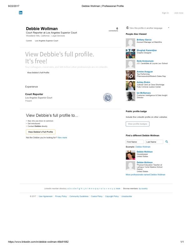 Debbie Wollman _ Professional Profile